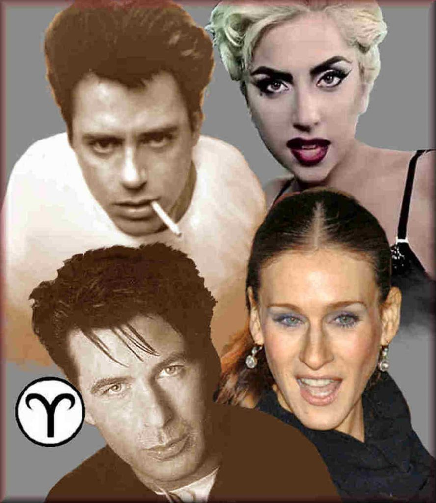 physical traits of Aries, Lady Gaga, Robert Downey Jr.